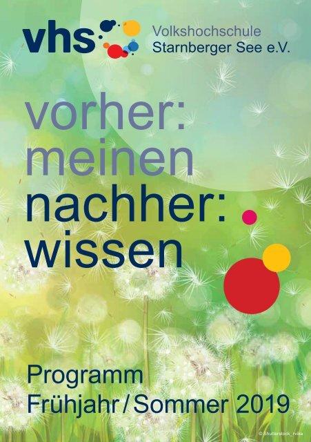 Programmheft Frühjahr Sommersemester 2019 Vhs Starnberger See