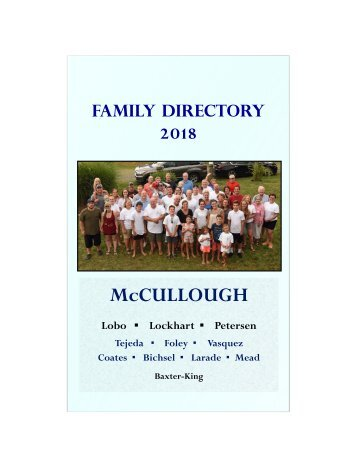 Copy of 2018 McCullough Directory