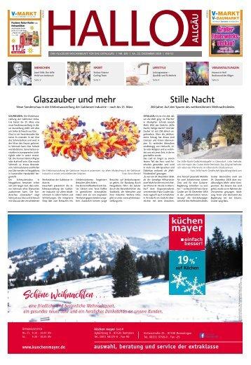 Hallo-Allgäu Kaufbeuren, Ostallgäu vom Samstag, 22.Dezember