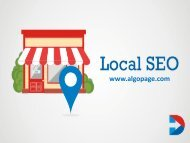 Local SEO Services in India - Algopage