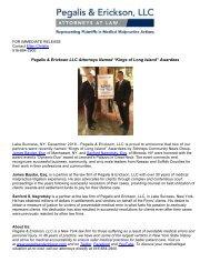 "Pegalis & Erickson LLC Attorneys Named ""Kings of Long Island"" Awardees"