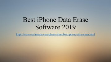 Best iPhone Data Erase Software 2019 You Can't Miss