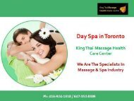 Day Spa in Toronto | Kingthaimassage.com
