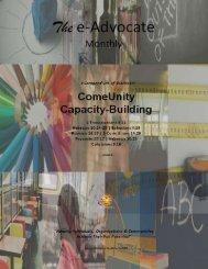 ComeUnity CAPACITY BUILDING