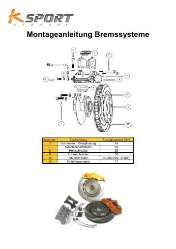 Montageanleitung Bremssysteme - K-Sport Germany