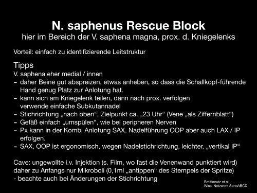 Rescue Blocks_Kapitel_5.3_N saphenus_im Bereich der VSM