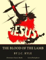 The Blood of the Lamb by J.C. Ryle