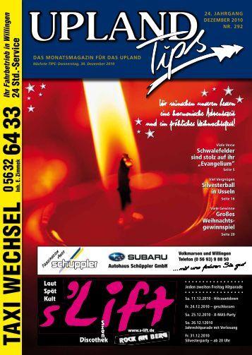 Upland-Tips-Dezember-2010 - Willingen live