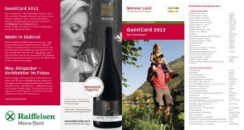 GuestCard 2012 - Meraner Land