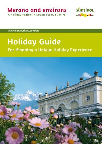 Holiday-Guide For planning a unique culinary ... - Meraner Land