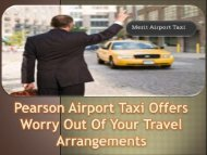 Pearson Airport Taxi Offers Worry Out Of Your Travel Arrangements-converted