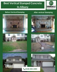 Best Vertical Stamped Concrete In Albany