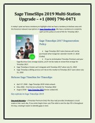 Sage TimeSlips 2019 Multi-Station Upgrade - +1 (800)  796-0471
