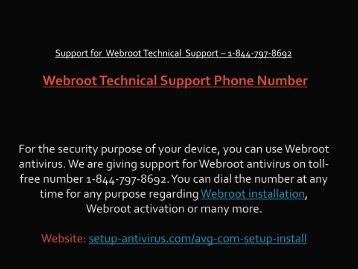 Webroot Technical Support Phone Number