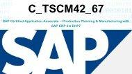 C_TSCM42_67 Exam Braindumps Questions