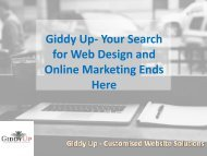 Giddy Up- Your Search for Web Design and Online Marketing Ends Here