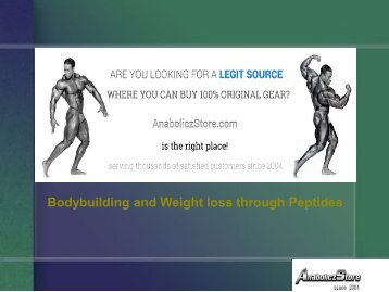 Bodybuilding and Weight loss through Peptides