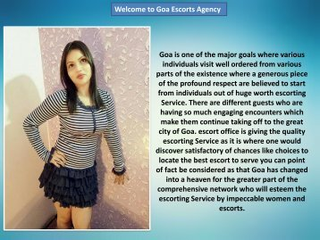 Goa escorts services