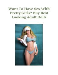 Want To Have Sex With Pretty Girls Buy Best Looking Adult Dolls