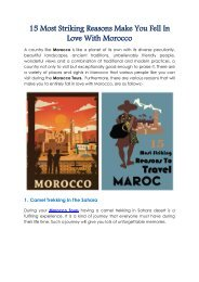 Tizi Trekking Blog - 15 Most Striking Reasons Make You Fell In Love With Morocco