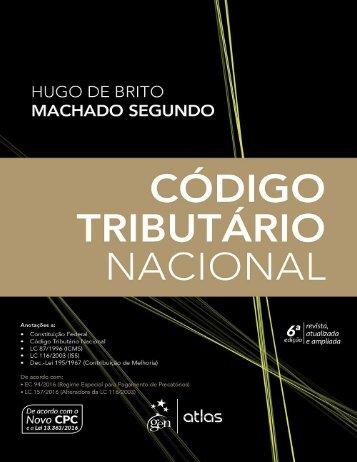 Código Tributário Nacional - Hugo de Brito Machado Segundo - 2017
