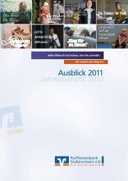Jahresbericht 2010 - Raiffeisenbank Südstormarn Mölln eG