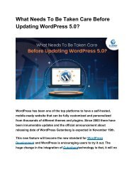 What Needs To Be Taken Care Before Updating WordPress 5.0_