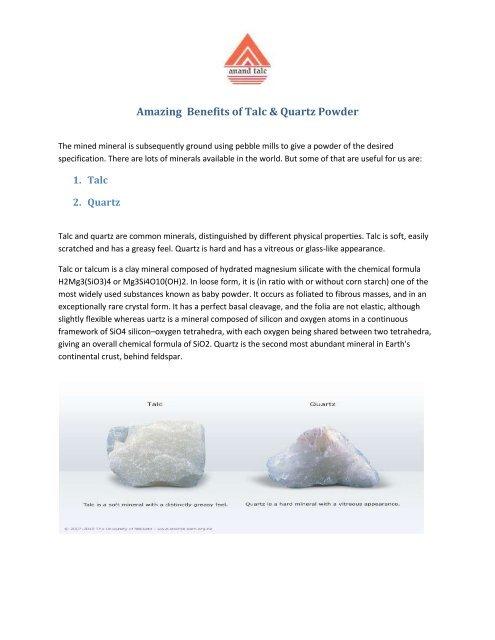 Amazing Benefits of Talc & Quartz Powder
