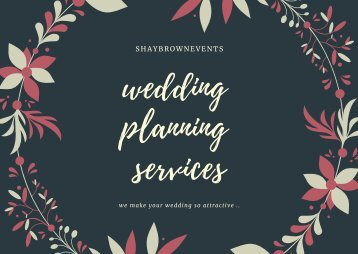 wedding planning services  wedding planner