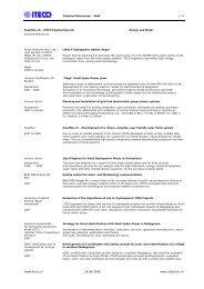 Selected References - ITECO Ingenieurunternehmung AG