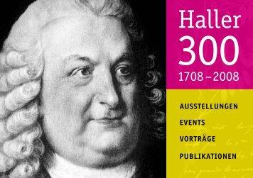 Hallers (G)Arten - Albrecht von Haller - Universität Bern