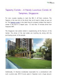 Tapestry Condo - A Newly Luxurious Condo At Tampines, Singapore