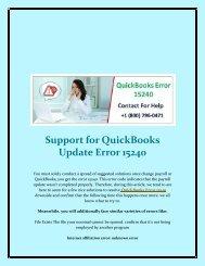 Support For QuickBooks Update Error 15240