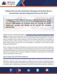 Collaborative Product Definition Management Market Shares, Growth Rate and Size Estimation Forecast To 2025