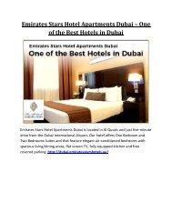 Emirates Stars Hotel Apartments Dubai – One of the Best Hotels in Dubai