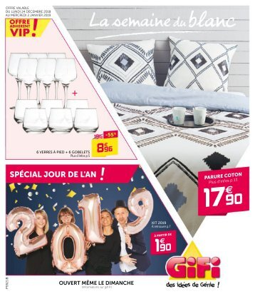 catalogue Gifi 24 dec 2018-2 jan 2019
