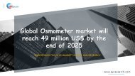 Global Osmometer market will reach 49 million US$ by the end of 2025