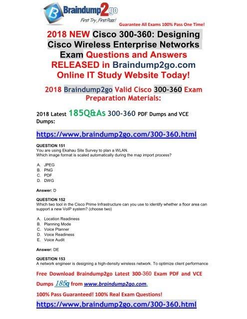 2018-December-Version]New 300-360 VCE and 300-360 PDF Dumps