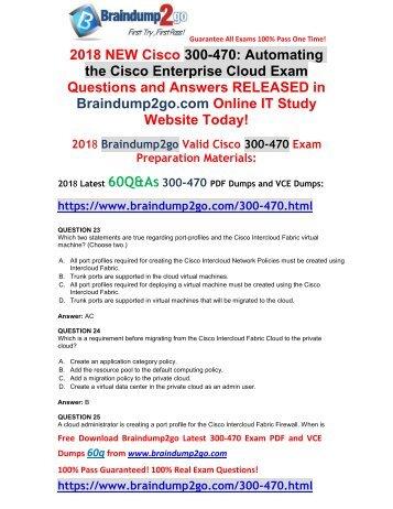 [2018-December-Version]New 300-470 PDF Dumps Free Download(Q23-33)