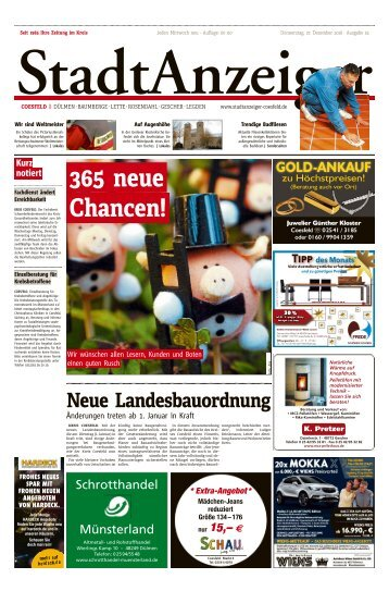 Stadtanzeiger Coesfeld kw 52