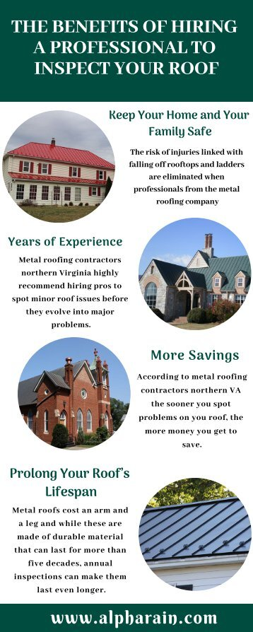 THE BENEFITS OF HIRING A PROFESSIONAL TO INSPECT YOUR ROOF