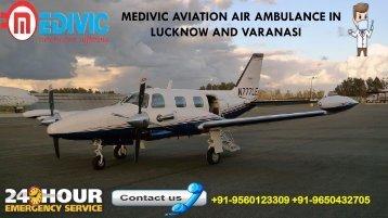 Medivic air ambulance in lucknow and varanasi