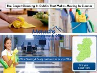 The Carpet Cleaning In Dublin That Makes Moving In Cleaner