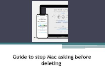 Guide to remove an iCloud account from Apple