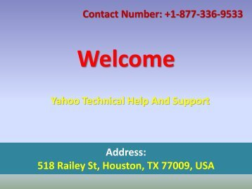 Yahoo Technical Help And Support Phone Number +1-877-336-9533