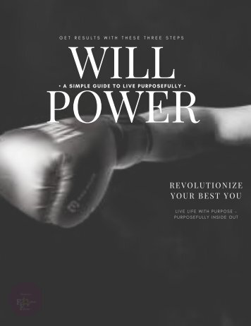 Discover Will Power In 3 Simple Steps
