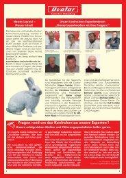 Fragen rund um das Kaninchen an unsere Experten !
