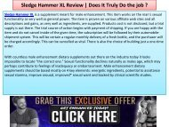 Sledge Hammer XL - It Helps You To Last For A Longer Period Of Time