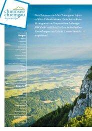 Gastgeberverzeichnis Urlaubswelt Chiemgau 2019