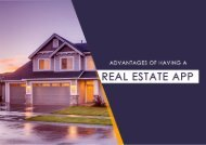 Advantages of Having a Real Estate App